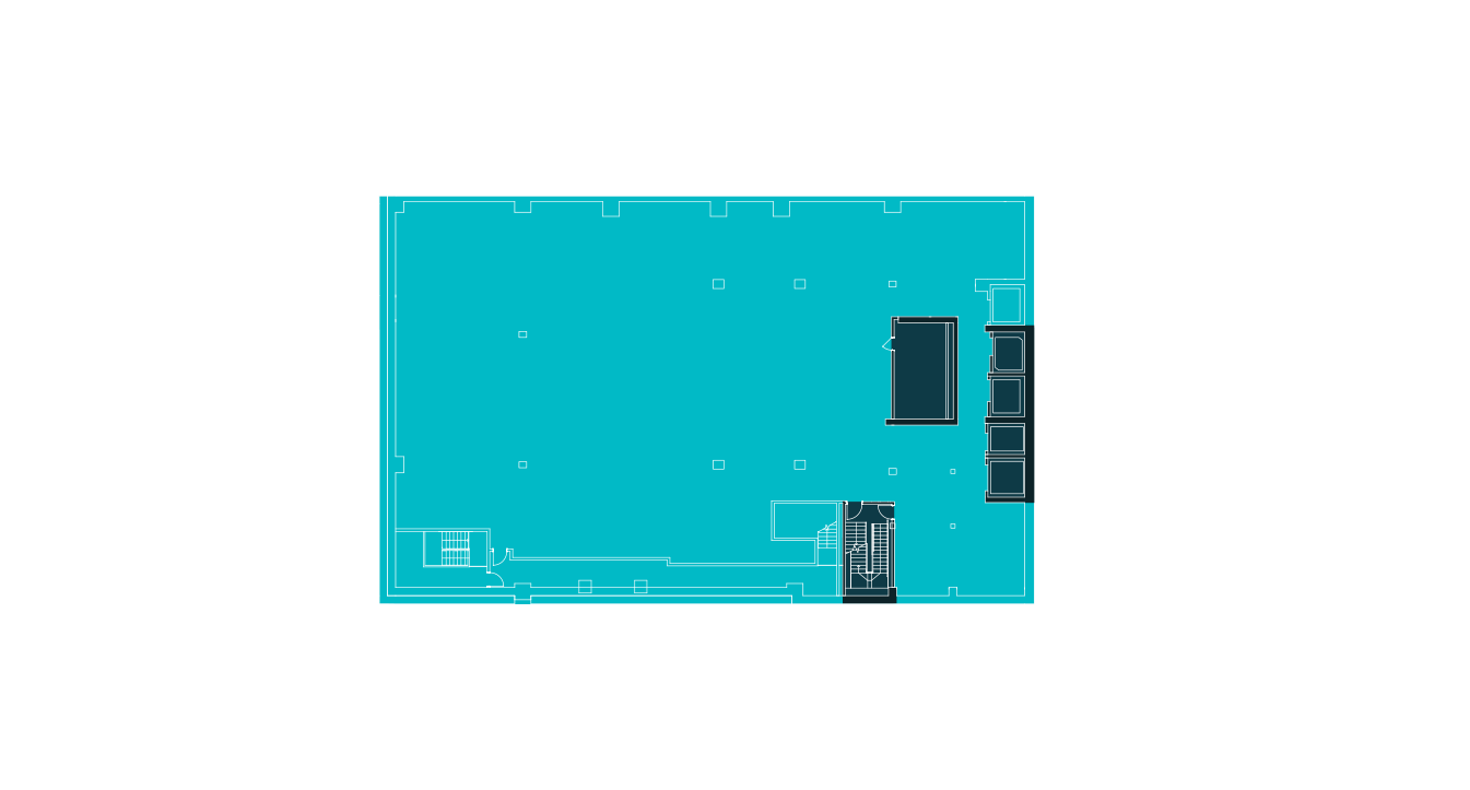 Floorplan of the first level concourse at 20 Times Square