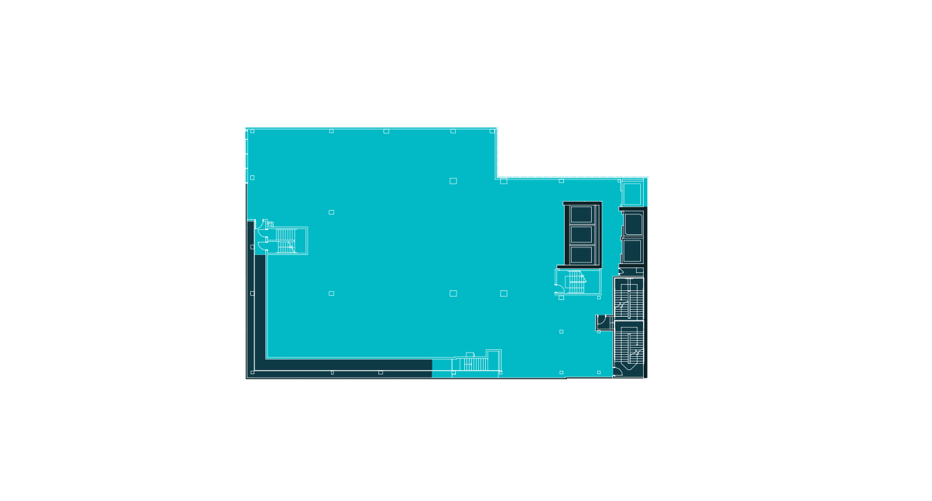 Floorplan of the third floor at 20 Times Square